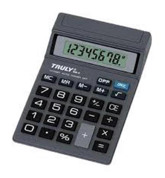 5 Und Calculadora De Mesa 8 Dígitos 806 A Truly Pilha 1 X Aa