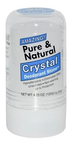 Desodorante Crystal Pedra Pure & Natural 120g - Grande