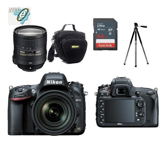 Nikon D610 24-85mm + Bolsa+tripé+64gb Nota Fiscal