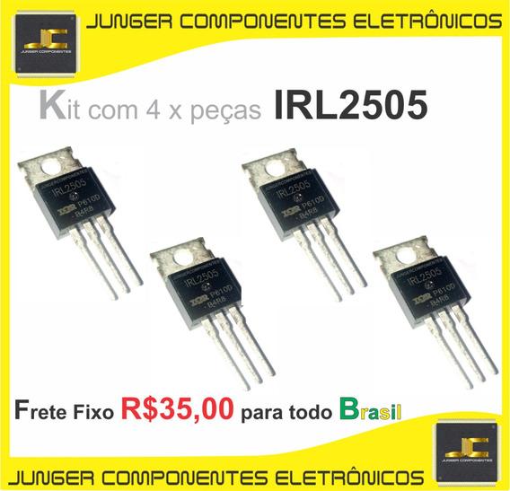 Irl2505 - Irl 2505 - Irl2505pbf = Irl3705 - Kit Com 4x Peças