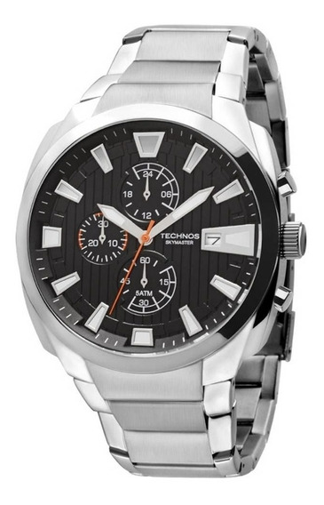 Relógio Masculino Prata Js15ay/1p Skymaster Original+nf