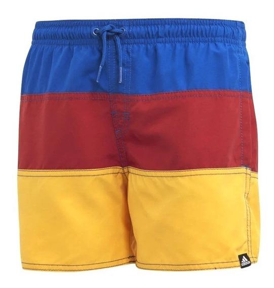 Short De Baño adidas Colorblock Roj-ama-azu De Niños