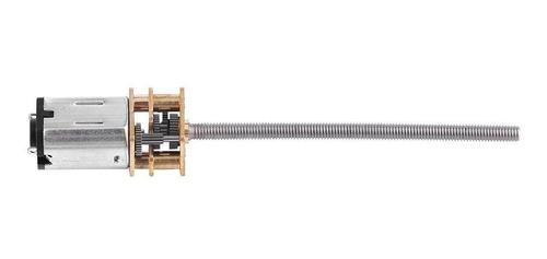 Caja de engranajes micro del motor de reducci/ón de velocidad de DC 6V 30RPM ~ 500RPM con salida larga de rosca de rosca de plomo de M3x 55MM 6V 150RPM
