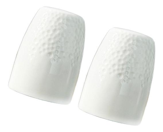 2pcs Blanco Caja De Almacenaje De Palillero De Dientes De