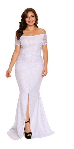 Vestido Coctel Largo Tallas Extra Plus Envío Gratis