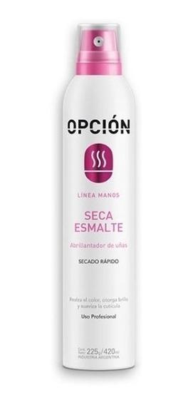 Secaesmalte Spray Opción Uñas Manicuria Profesional 410 Ml