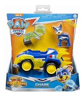 Paw Patrol Vehiculos Mighty Pups Juguete Chase O Marshal