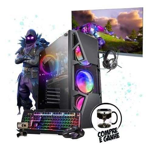 Pc Gamer Completo Raven I5 4ºger. Gtx 1050 8gb Ssd 480gb 24