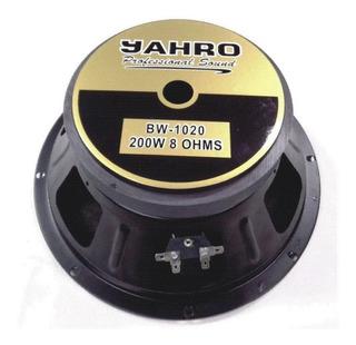 Parlante Jahro Full Range Bw1020 10 Pulg 200w Rms Nortvision