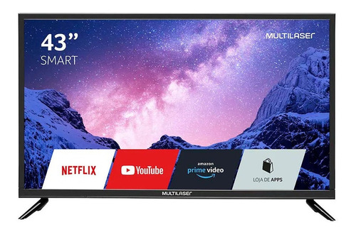 Imagem 1 de 5 de Smart Tv Multilaser 43 Led Full Hd Hdmi C/ Conversor Tl024