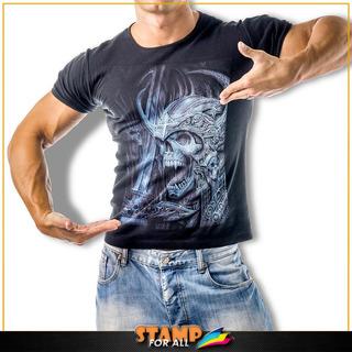 Camiseta Caveira Skull Viking Ragnar Lothbrok Stamp For All