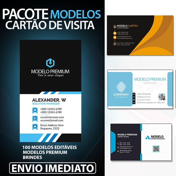 Modelos Cartões Visita Psd Photoshop Editável Dvd Latinhas