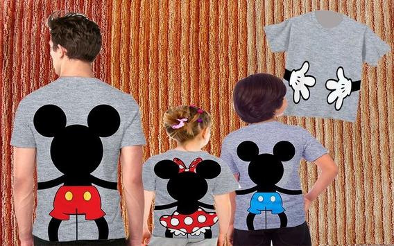 Blusas Pai, Mãe E Filha - Mickey Family 2