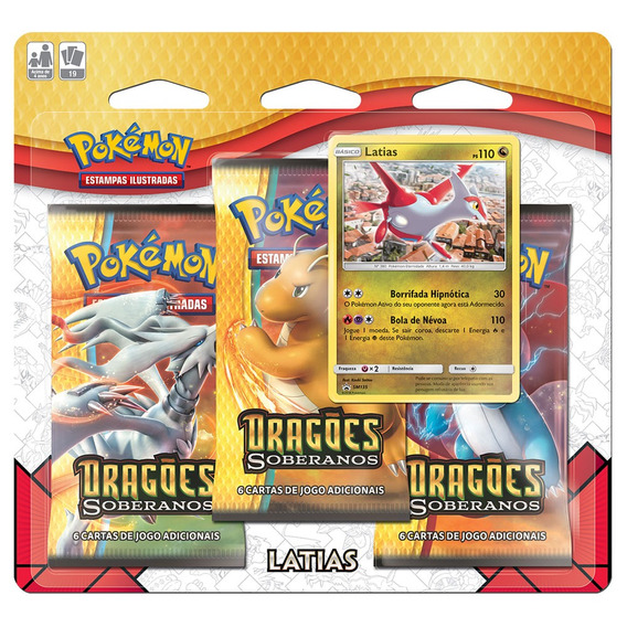 Jogo Pokémon - Triple Deck - Sol E Lua - Dragões Soberanos -