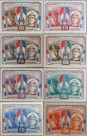 Serie De 247 Estampillas Peron Y Stroessner 1955 Paraguay