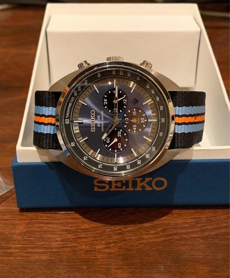 Reloj Seiko Ssc667 Chronografo Solar Recraft Azul Excelente