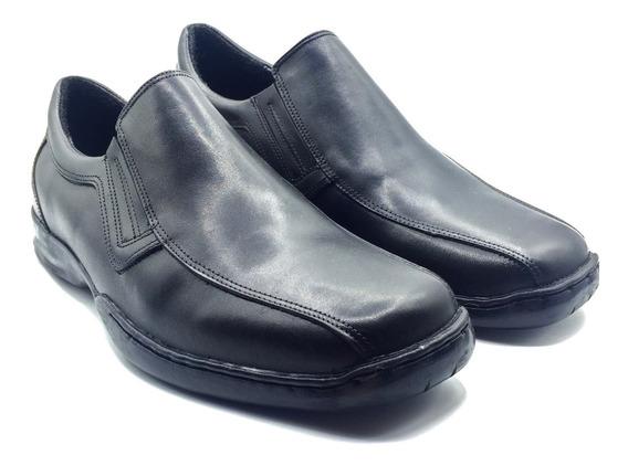 Zapato Franco Pasotti Cuero Hombre Mocasín Negro Confort