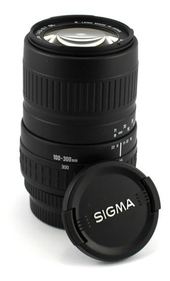 Objetiva Sigma 100-300mm F/4.5-6.7 Dl P/ Nikon