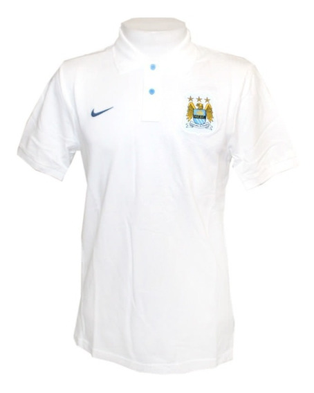 Camisa Polo Authentic Manchester City Nike Branca Original