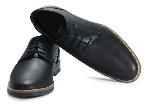 Zapatos Justicialistas Jp Negro- Cuero Vacuno (perón Eva)