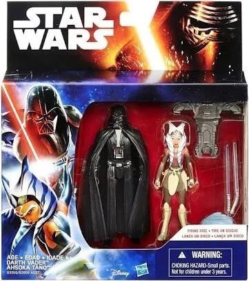 Star Wars Rebels Ashoka Tano E Darth Vader, Figuras, 9,5 Cm