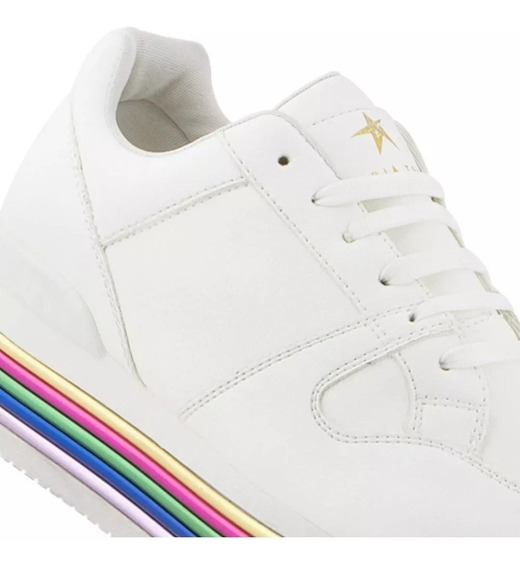 Tenis Casual Dama Gloria Trevi 185824 Color Blanco Urbano