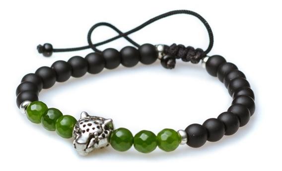 Pulsera Protección Jaguar Ajustable Piedra Natural