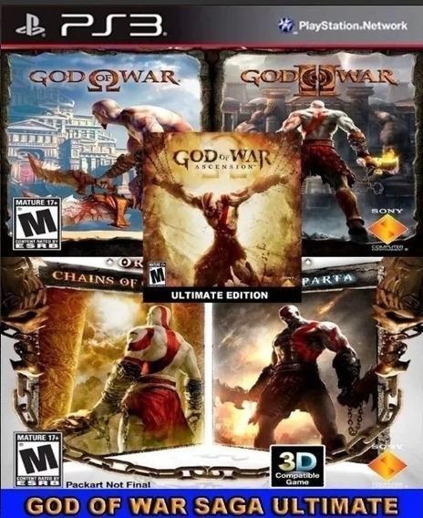 God Of War 5 In 1 Deus Da Guerra Ps3 Psn - Leia Descricao !