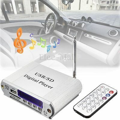 Mini Mp3 Usb Sd Player Digital Rádio Fm Controle Remoto Led