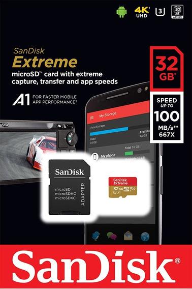Cartão Memória Micro Sd 32 Gb Sandisk Extreme Classe 10