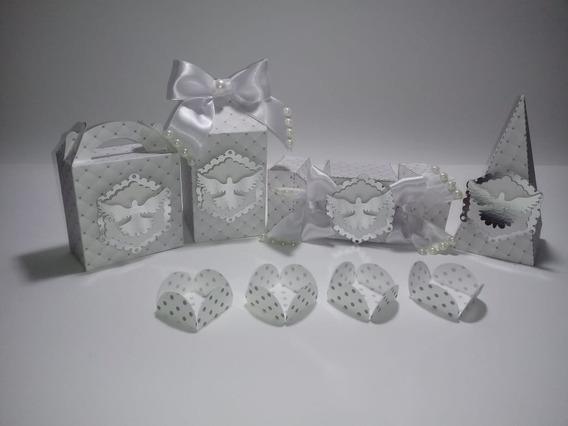 25 Caixas Personalizada Milk Bala Piramide + Brinde Batizado