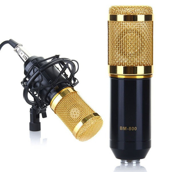Bm -800 Condensador Som Gravação Microfone E Plástico Choque