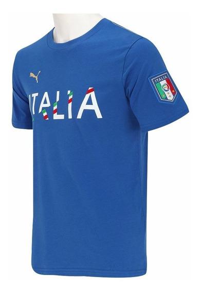 Camiseta Infantil Puma Itália - Tam 8 E 12 Anos