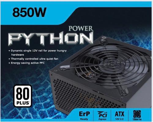Fonte Real 850w Akasa Python Pfc Ativo 80 Plus