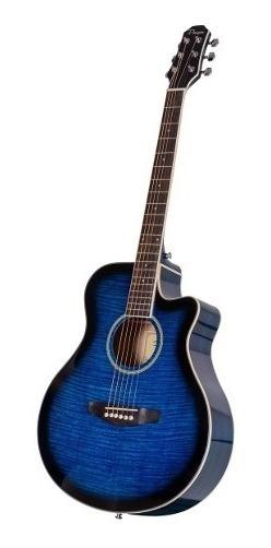 Guitarra Acustica Parquer Tipo Apx Azul Media Caja Corte