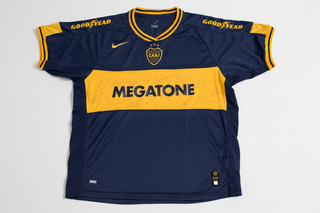 Camisa Do Boca Juniors Autografada Pelo Time Original Nike