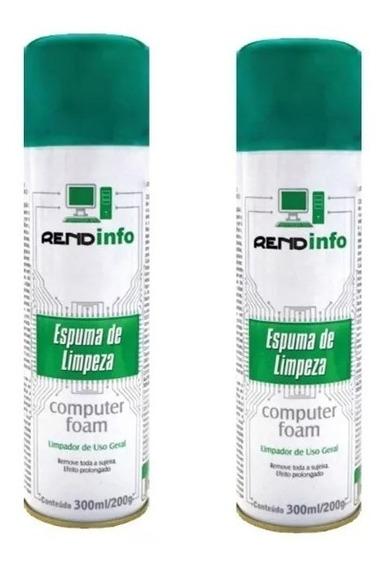02 Espuma Limpeza Antiestática Computer Foam - Spray 300ml