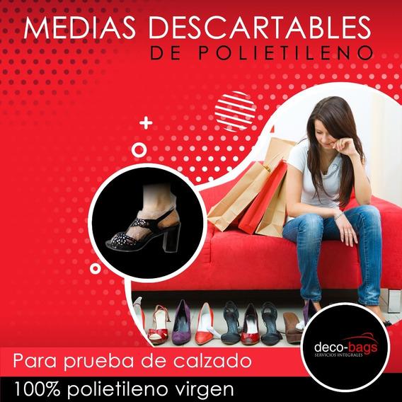 Medias Descartables Para Zapatería Pack Por 100 Unidades