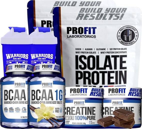 Kit 2 Isolate Protein Mix+ 2 Bcaa+ 2 Creat.+ 2 Coq Profit