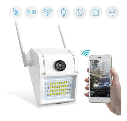 Imagen 1 de 7 de Reflector Camara Seguridad Wifi Exterior  Movimiento Alarma