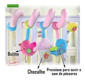Mobile Espiral Para Berco Bebe Conforto E Carrinho Musical