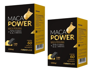 Kit 2x Maca Power (+vit E Minerais) 60 Caps 1200mg Maxinutri