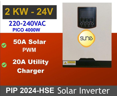 Energía Solar Inversor 2000w