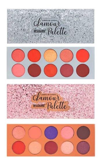 Kit 2 Paleta De Sombra Glamour Sp Colors - Atacado