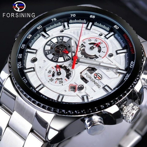 Relógio Forsining Masculino Automático Aço Inoxidável