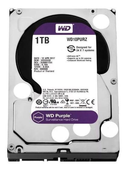 Hd 1tb Purple 1 Tera Western Intelbras Cftv Dvr Wd10purz Nfe