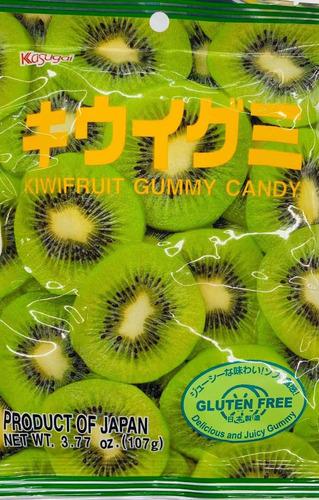 Imagen 1 de 3 de Gomitas Sabor Kiwi Kasugai Kiwifruit Japonesas