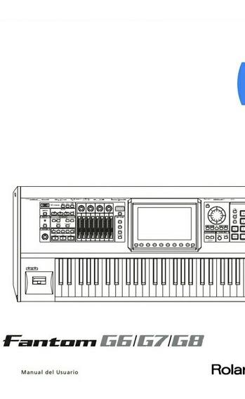 Manual En Español Completo Del Teclado Roland G6, G7, Y G8
