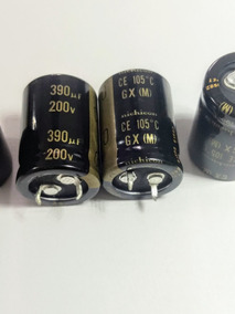 2 X Capacitor Eletrolitico 390uf X 200v 105° Nichicon