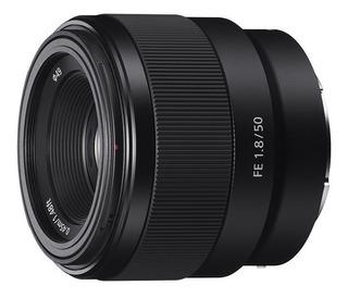 Lente Sony Montura E De Retrato Fe 50 Mm F1.8 - Sel50f18f